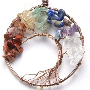 NIB gorgeous stone family tree necklace